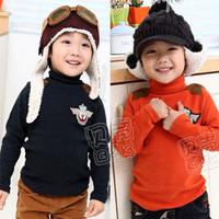 free shipping 2013 spring preppy style boys clothing baby tx-1282 basic turtleneck shirt