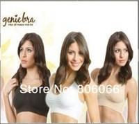 Hot sales 900pcs/lot (300set black white beige)Genie Bra with pads Women's Two-double Vest BODY SHAPER Push Up BREAST RHONDA