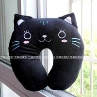 rabbit fur velvet neck pillow nursing pillow massage pillow cat pig panda soft stuffed home toy free ship