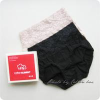 Elements coton cotton women's element cotton high waist lace panties trigonometric 1 e301 Free Shipping