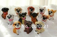 Free Shipping New finger dolls  toys 5cm  dogs Action Figure Toys 12pc/iot