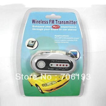 50pcs/lot UNIVERSAL MP3 FM WIRELESS CAR TRANSMITTER MODULATOR+DHL freeshipping