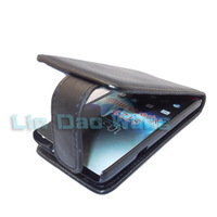 Black Leather Case Cover Pouch + LCD Film For Sony Xperia miro ST23i,Sony ST23a