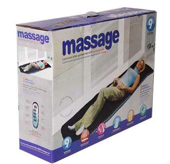 Frete grátis para vibração massagem colchão de corpo inteiro aquecimento massageador massagem colchão massageador máquina de massagem