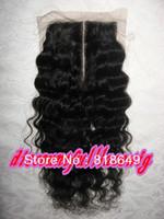 "Princess hair AAA 12"" #1b Italy Curl Virgin Brazilian Lace Top Closure(3.5"" x 4"") top pieces"