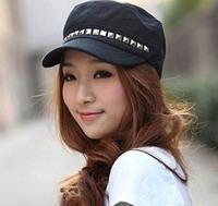 10pcs Special Fashion Metal Rivets Military Cap Cheap Classic Ladies Brim Caps Mens Army Hat Men Flex Fit Hats Womens Visor S38