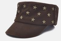 4 Colors Classic Designer Metal Star Men Flat Military Hats Ladies Cotton Hat  Army Cap Mens Flex Fit Caps Womens Headwear S46