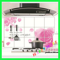 Free Shipping 5pcs/lot Kitchen oil pollution prevention wall sticker / aluminum foil oil Kitchen Sheet aluminum sticker