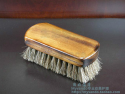 Large horsehair brush shoe brush oil dust brush high quality horse hair brush soft texture(China (Mainland))