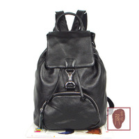 2014 drawstring buckle genuine leather backpack female genuine leather backpack women's