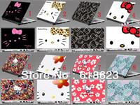 "HD Pattern laptop shell sticker 10""12""13""14""15''hello kitty pvc film protective film beauty sticker 8 designs for choosing"