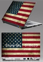 """HD Pattern American flag laptop shell sticker 10""""12""""13""""14""""15''personality pvc protective film beauty sticker 8 designs"""