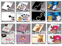 "HD Pattern laptop shell sticker 10""12""13""14""15''cartoon pvc protective film beauty sticker 8 designs for choosing"