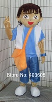 2013 Hot Sale ! High Quality Girl Dora Boy Diego Mascot Costume Adult Size Cartoon CostumeDiego Costume with Bag Free Shipping