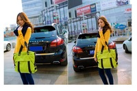 Free shipping!Shoulder bags for women-canvas bag-large handbags-fashion designer!Three color,black,pink and green!