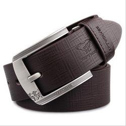 SEPTWOLVES male pin buckle strap mens genuine leather belt fashionable casual jeans(China (Mainland))