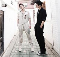 Hot Sale New Spring Autumn 2014 Fashion Men's clothing Male hip-hop Jumpsuit Costume uniforms Tooling Casual Pants