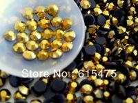 AAA Quality~GOLD HEMATITE Color DMC Flatback Iron On Hot Fix Crystal Rhinestones Gems SS6 SS10 SS16 SS20 SS30