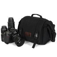 Floodwood slr shockproof camera bag waterproof canvas camera bag mirror