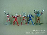 set of 5 Ultraman 12CM 9th Mario pvc anime action figure  resin figure children  toy