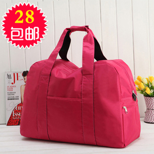 E HOME Large capacity waterproof nylon travel bag luggage sports gym bag one shoulder cross-body bags female JU(China (Mainland))