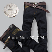 Autumn and winter men's jeans fashion printing Men's jeans