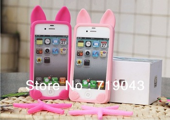5 pieces , 3D cute KOKO cat cell phone case for iphone 5, soft gel silicon luminous skin case for IPHONE 5 5G , free shipping