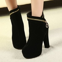 2012 autumn and winter high-heeled thick heel boots platform boots fashion sexy velvet women's shoes
