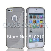 S-LINE Soft Gel TPU Case Skin Cover for Apple iPhone 5 5G S Line Wave Curve 8 Colors not Free Shipping 30PCS