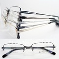wholesale low price 6692 classic unisex pure titanium rectangle half rim optical eyeglass frames free shipping