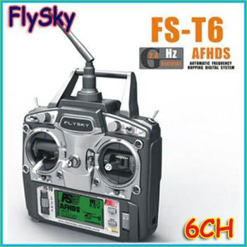FS FlySky FS-T6/FS T6 2.4G Digital Proportional 6 Channels Transmitter & Receiver w/ LED Screen Mode 2