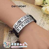 Justin bieber diy letter bracelet Free Shipping