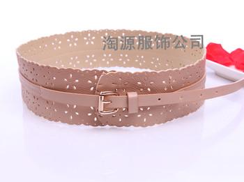Min order $9 Sweet women's one-piece dress tieclasps all-match wide belt fashion cutout cummerbund