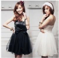 Sweet elegant tube top big bow princess dress