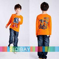 Fashion Boys Autumn Winter T shirts Children Long Sleeve Clothes Kids COOL MAN Printed Design Tops,Free Shipping K0370