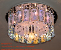 Crystal and glass ceiling lamp decoration with remote control