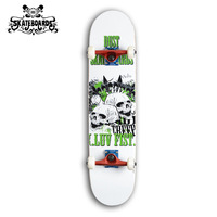 Backfire skateboard  Professional Canadian Maple Skateboard--Skull