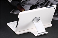 New White 360 Degree Swivel Rotating Bluetooth Keyboard Stand Case for iPad Mini