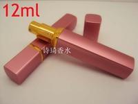Wholesale Mix Order 20pcs/lot  6 color Metal Case Glass Tank 12ml Perfume Bottle Aluminum Nozzle Spray Refillable Bottles