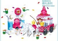 Original Box Banbao Wedding Happiness Bell 6107 Girl Building Block Sets 328pcs Educational Bricks toys for children