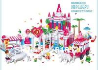 Banbao Wedding Series 6108 Girl Building Block Sets 1128pcs Educational Jigsaw DIY Construction Bricks toys for children