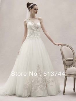 Free Shipping Pageant Off-the-shoulder  Charming attractive Wedding Dress LL014