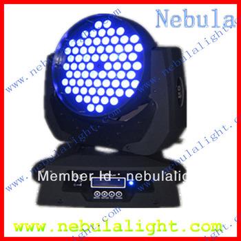 rgb 3in1 led moving head wash light 72pcs 3w