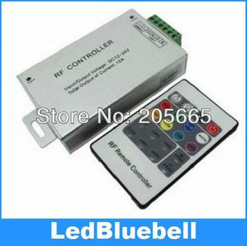 RF Remote Wireless 24 Key RGB LED Controller 12-24V