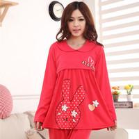 Free shipping Nursing clothing women fashion clothes spring and summer autumn maternity sleepwear plus size set lounge