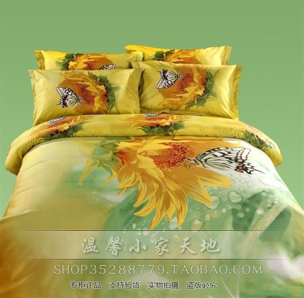 3D Butterfly comfoerter bedding set queen red flower floral blue green
