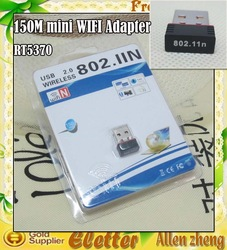 Micro mini 150M USB WiFi Wireless Network LAN Adapter with retail package Free shipping(China (Mainland))