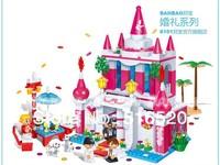 Banbao Wedding Happy Palace 6101 Girl Building Block Sets 552pcs Educational Jigsaw DIY Construction Bricks toys for children