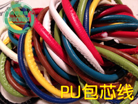 Diy accessories knitted multicolour beam port drawstring quality PU bracelet accessories leather material