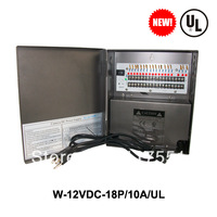 UL LISTED VideoSecu 18Output 12 V DC CCTV Distributed Power Supply Box for Security Camera with lock10a ptc